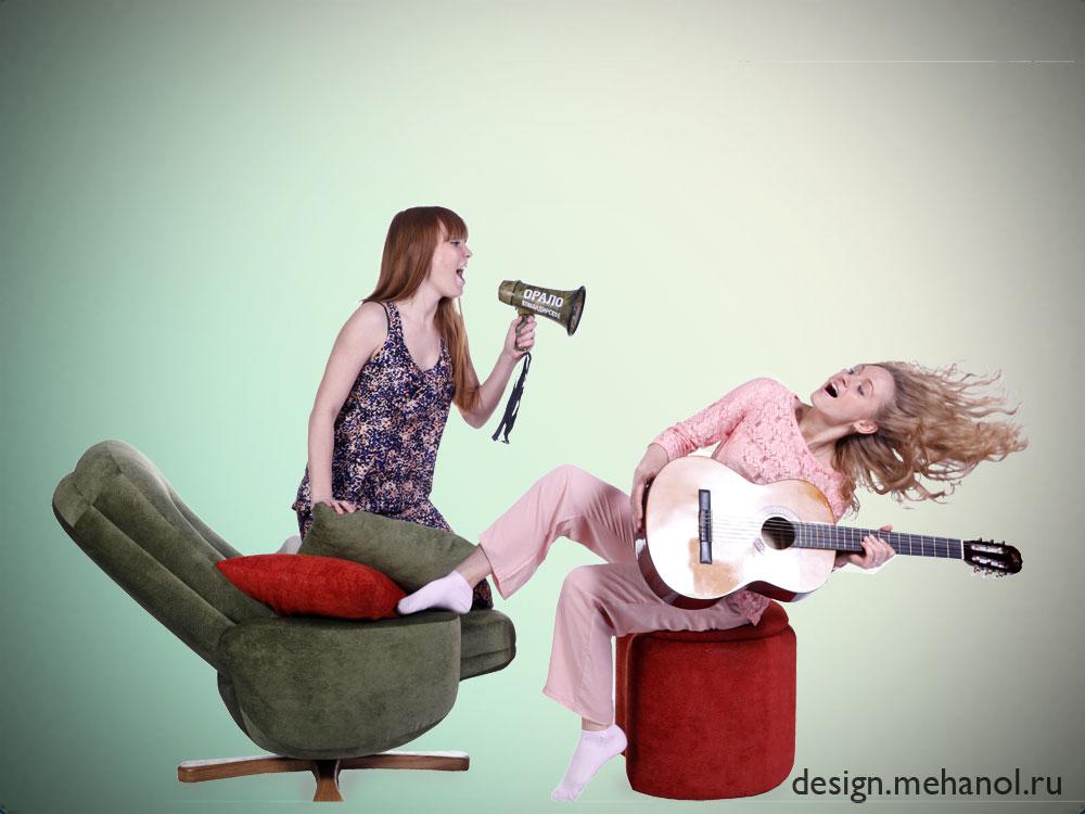Кресло реклайнер фотосессия