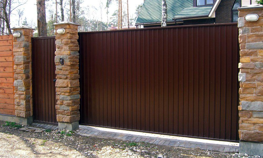 Ворота со средней балкой спереди